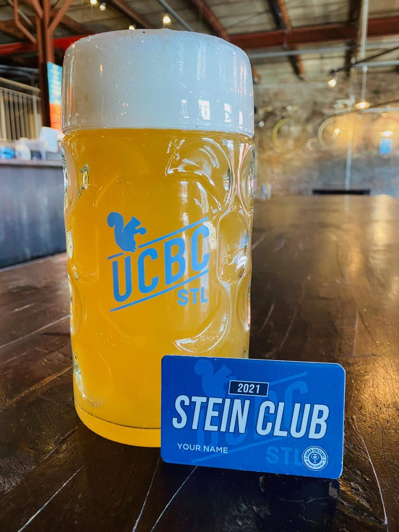 Become a member of Urban Chestnut's very first Stein Club for access to exclusive discounts and FREE bier!
