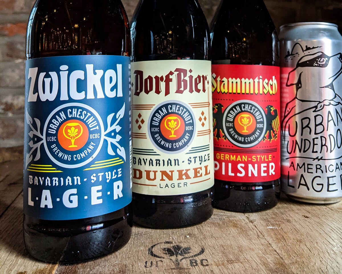 In a blind tasting conducted by the Wine Enthusiast, Urban Chestnut's Zwickel, Stammtisch, and Dorfbier receive high marks
