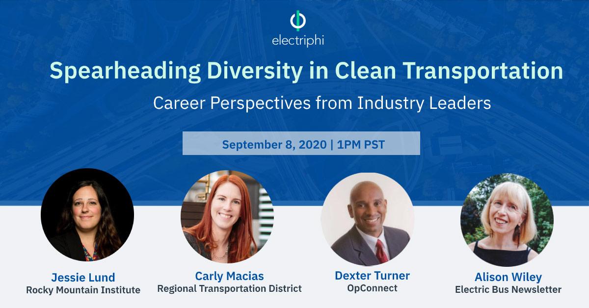 1st of Webinar Series: Spearheading Diversity in Clean Transportation
