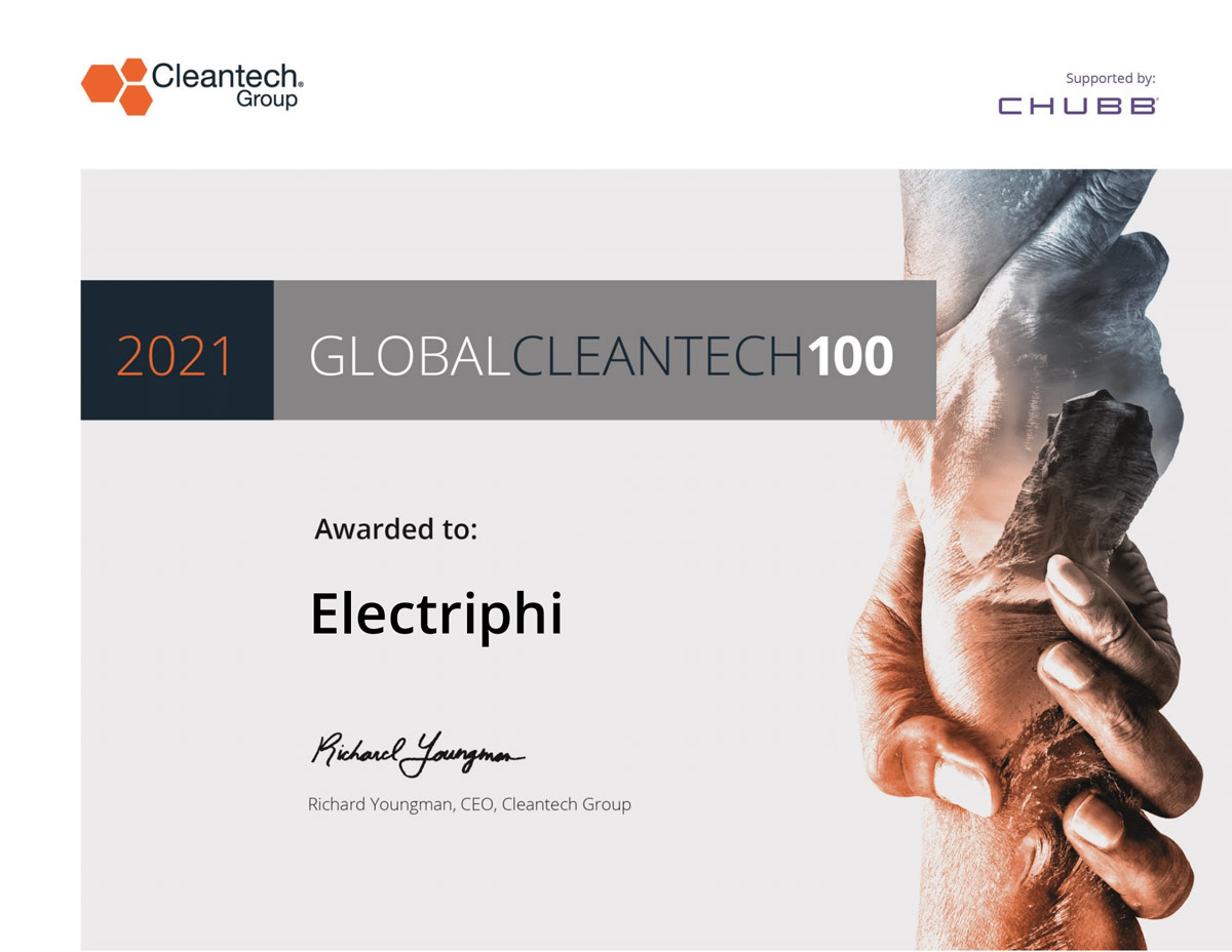 Electriphi Selected In 2021 Cleantech Global
