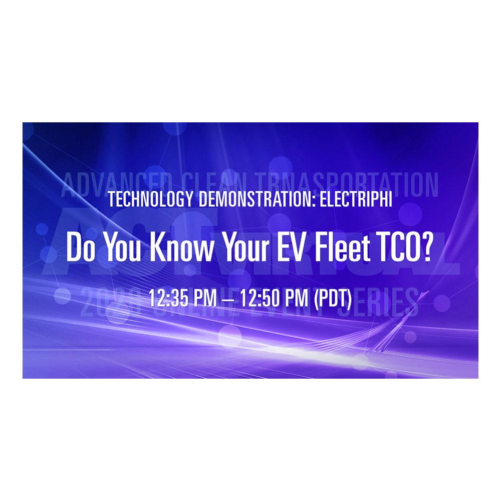 Electriphi Unveils New EV Fleet TCO at ACT Virtual 2020