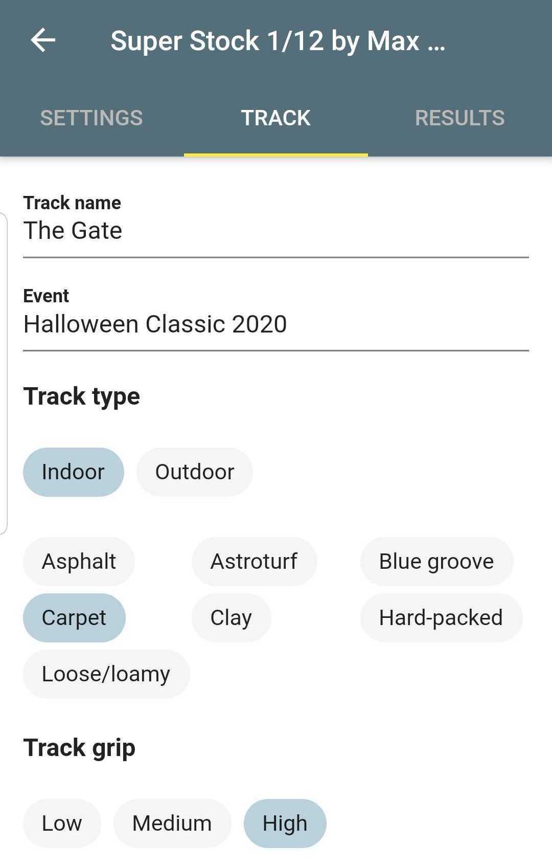 Setup-Track