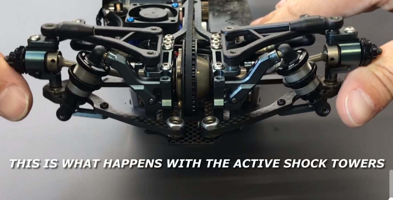 Mugen MTC2 Active Shock Tower Demonstration Video