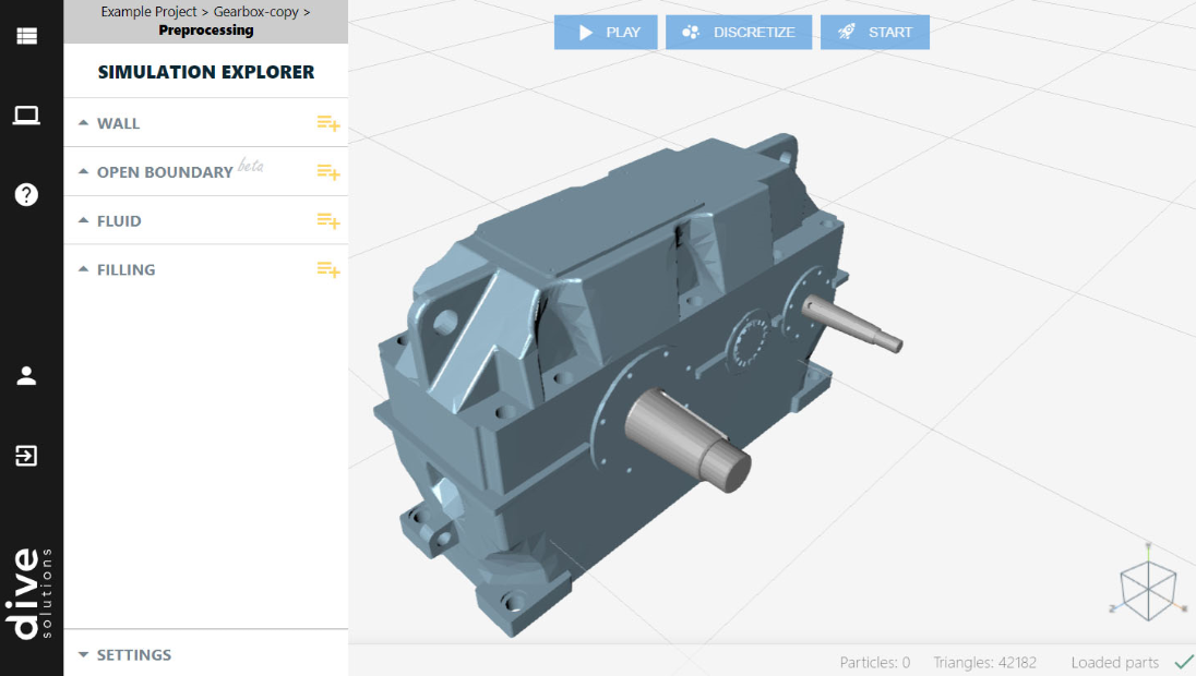 Manage your projects and simulations. Compare simulation results. Fluid simulation software. Gearbox simulation.