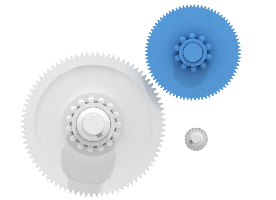 Centralize your data. Gears. Upload STL file.