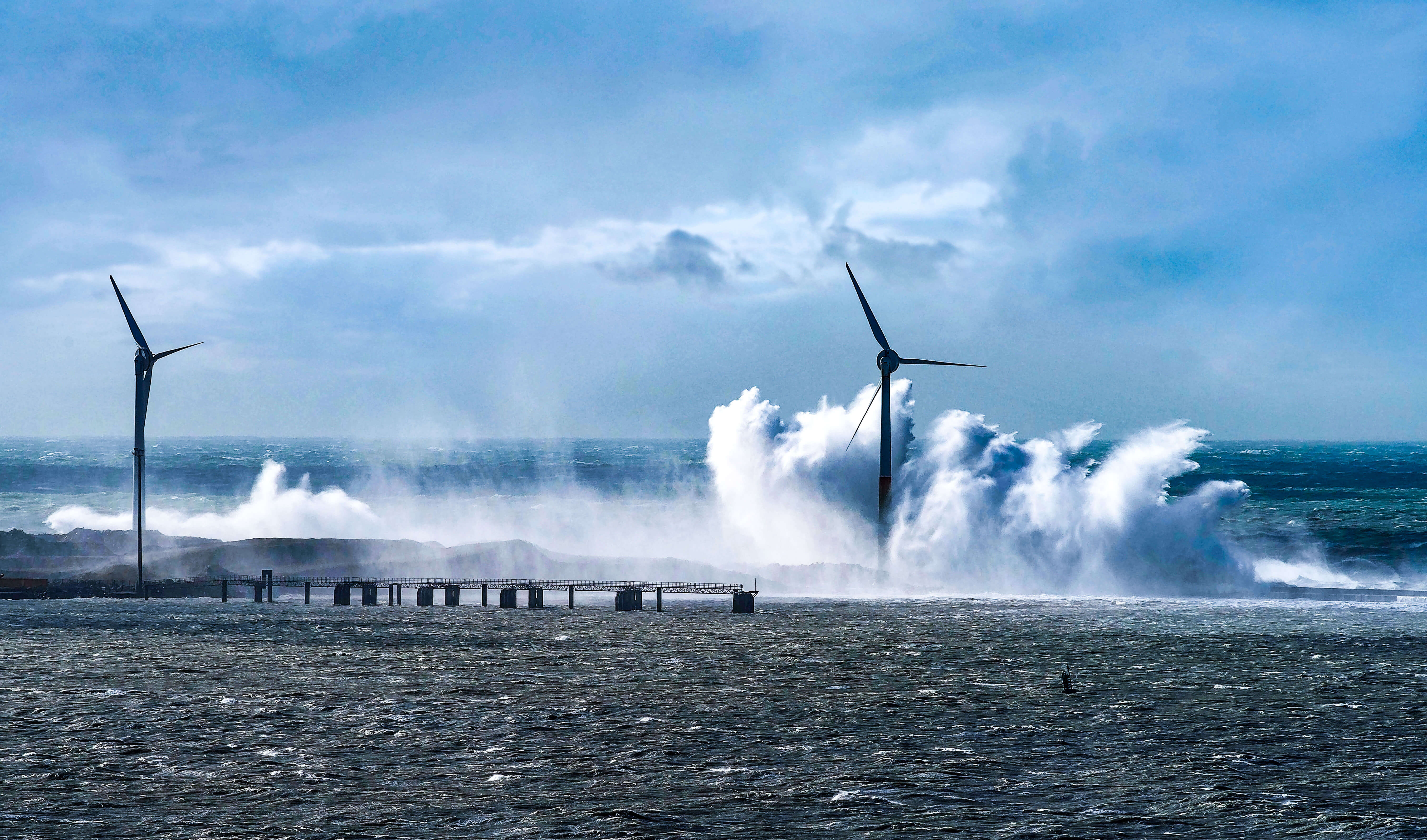 Wind turbines are exposed to extreme weather conditions