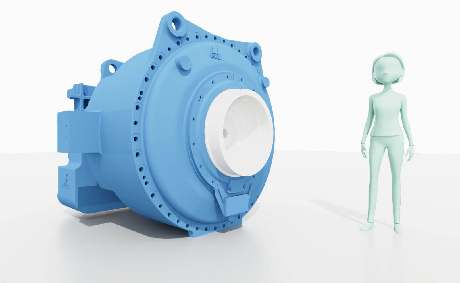 Comparison of NGC's 4 MW class gearbox with a human being
