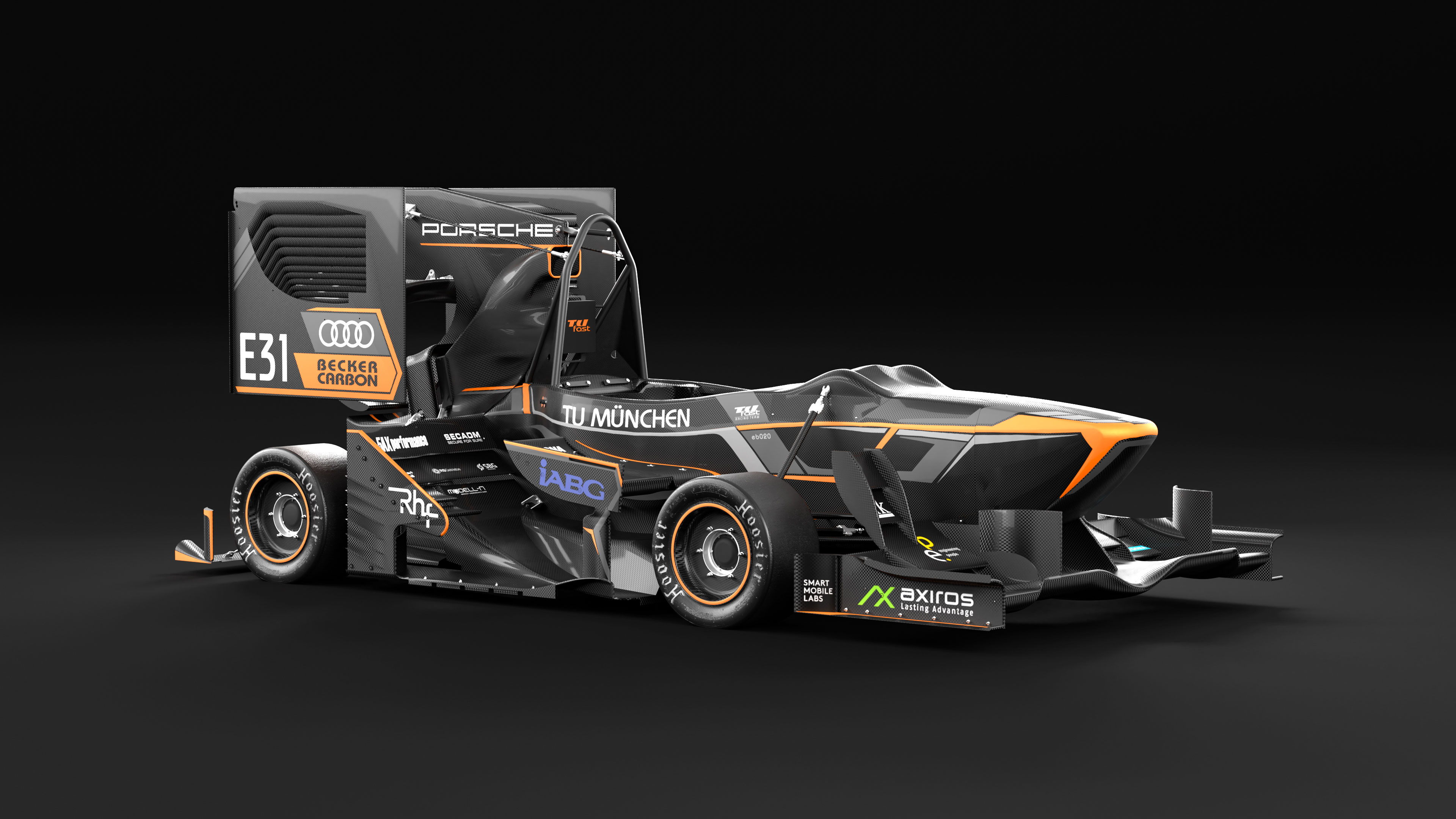 Figure 2: The racing car of TUfast team (left) and the wheelpackage (right).
