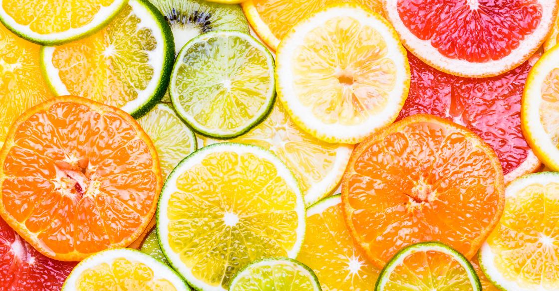 Slices of orange, lemon, lime and grapefruit