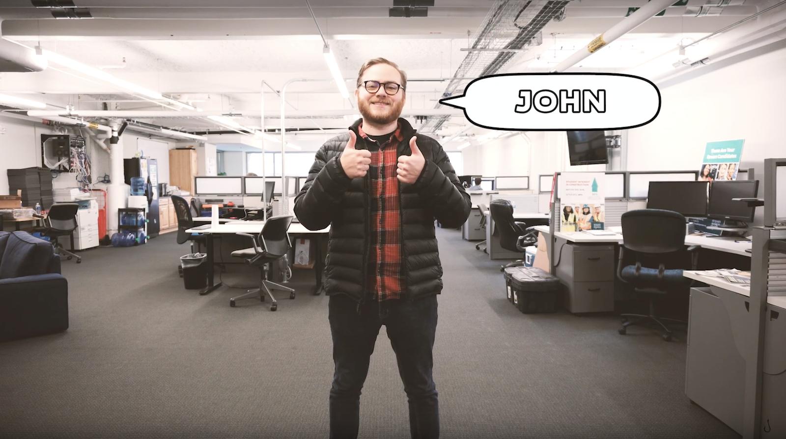 john receiving a phishing test