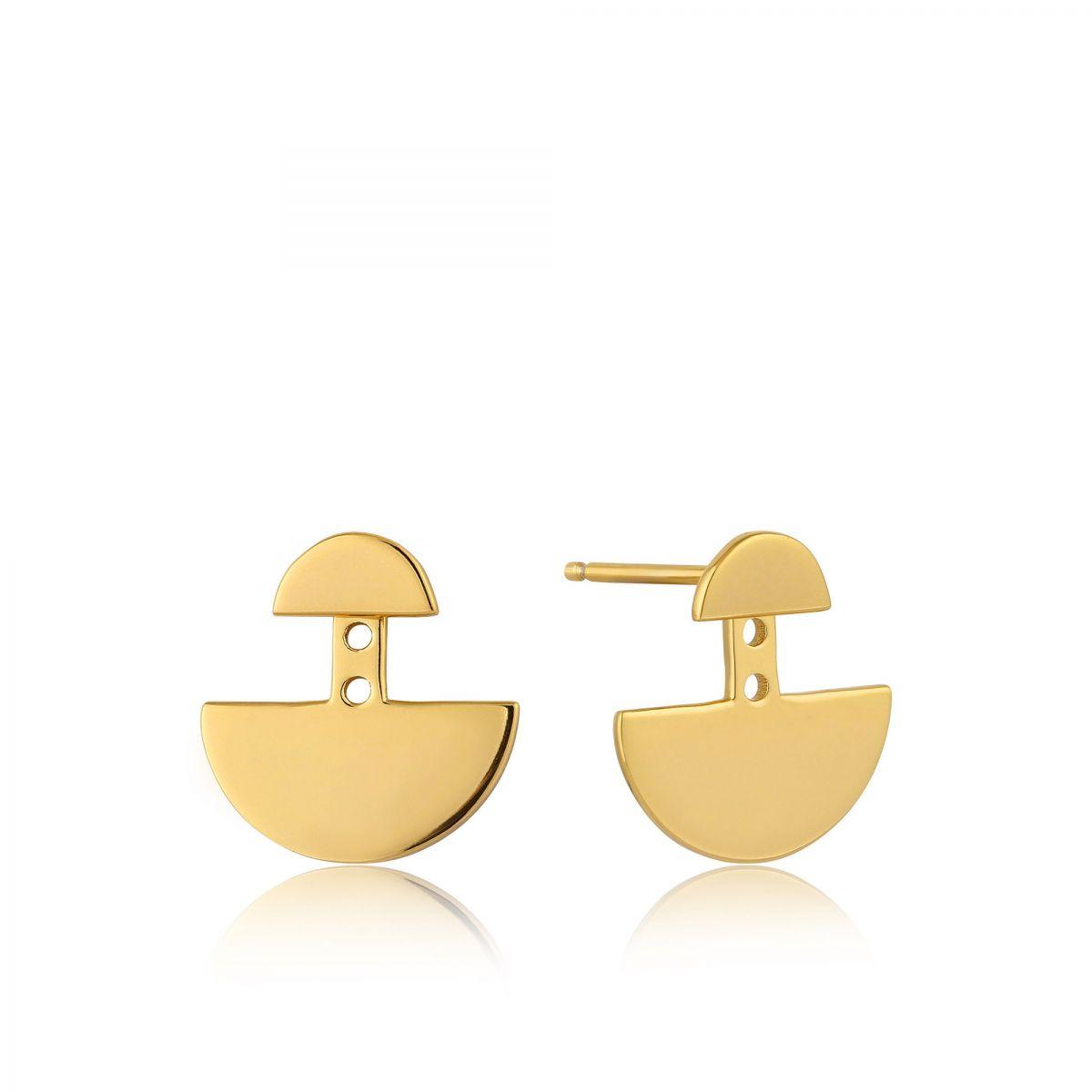 Ear jackets geometry in 925Silber vergoldet E005-04G