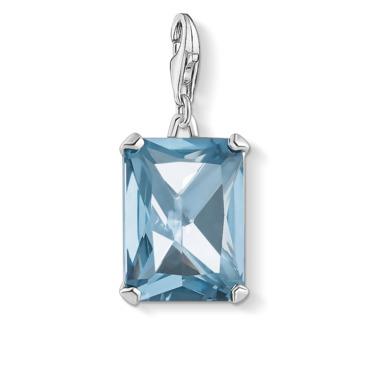 Charm-Anhänger Großer Stein blau 1846-009-1