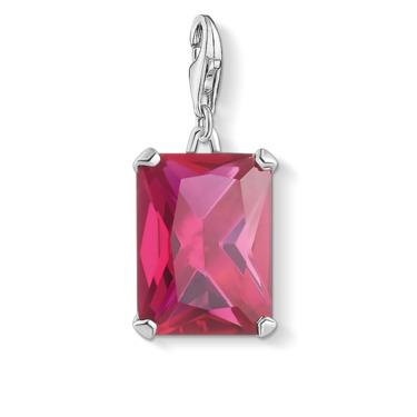 Charm-Anhänger Großer Stein Pink 1834-011-10