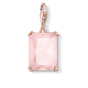 Charm-Anhänger Großer Stein rosa 1843-536-9