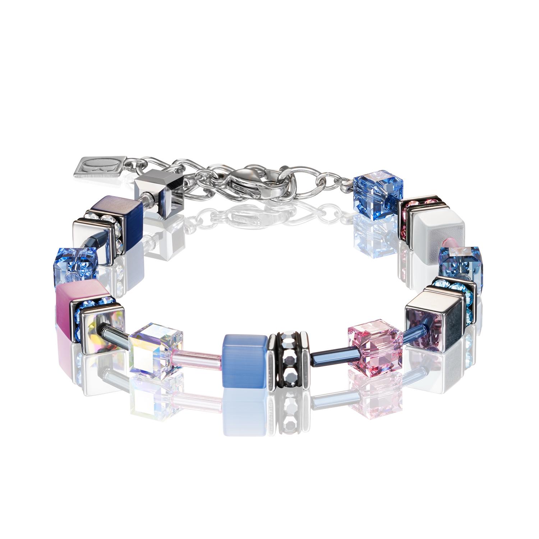 Armband GeoCUBE® blau-rosa 2839300719