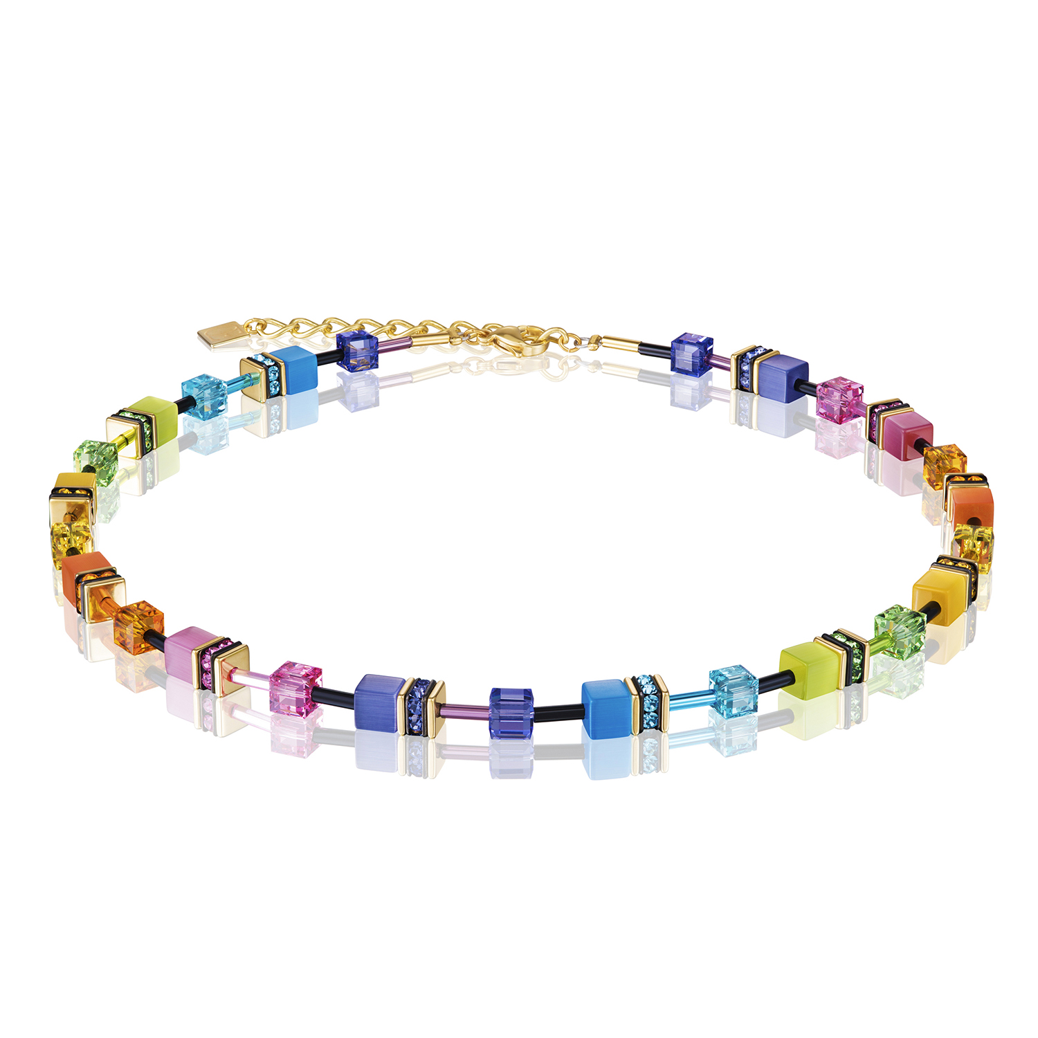 Collier GeoCUBE® rainbow gold 2838101573