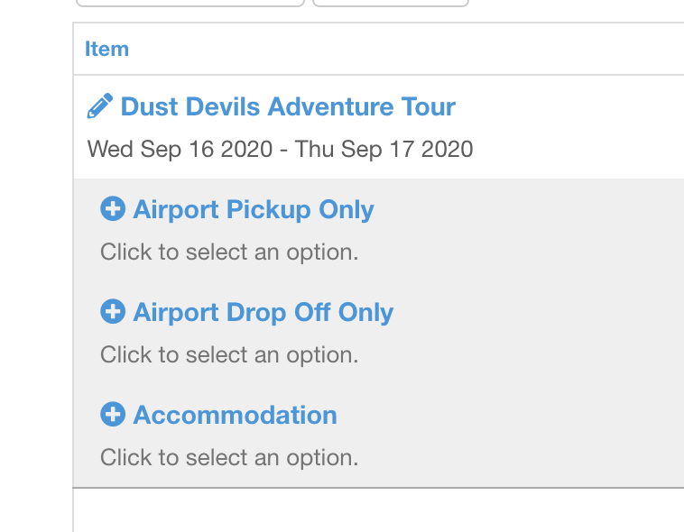Configure your tour