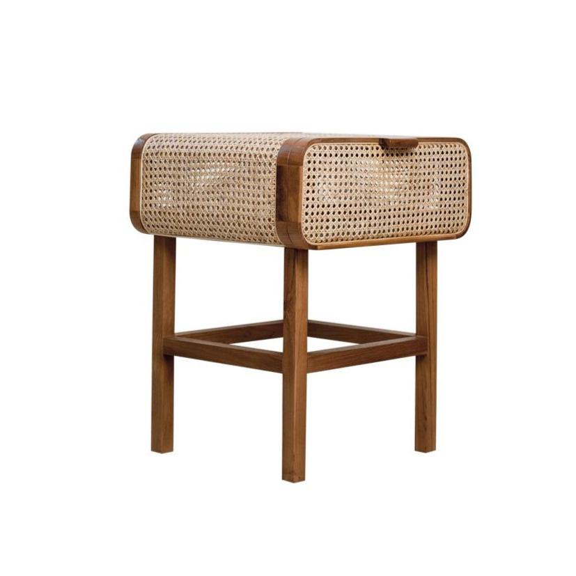 Cleo Cane Side Table