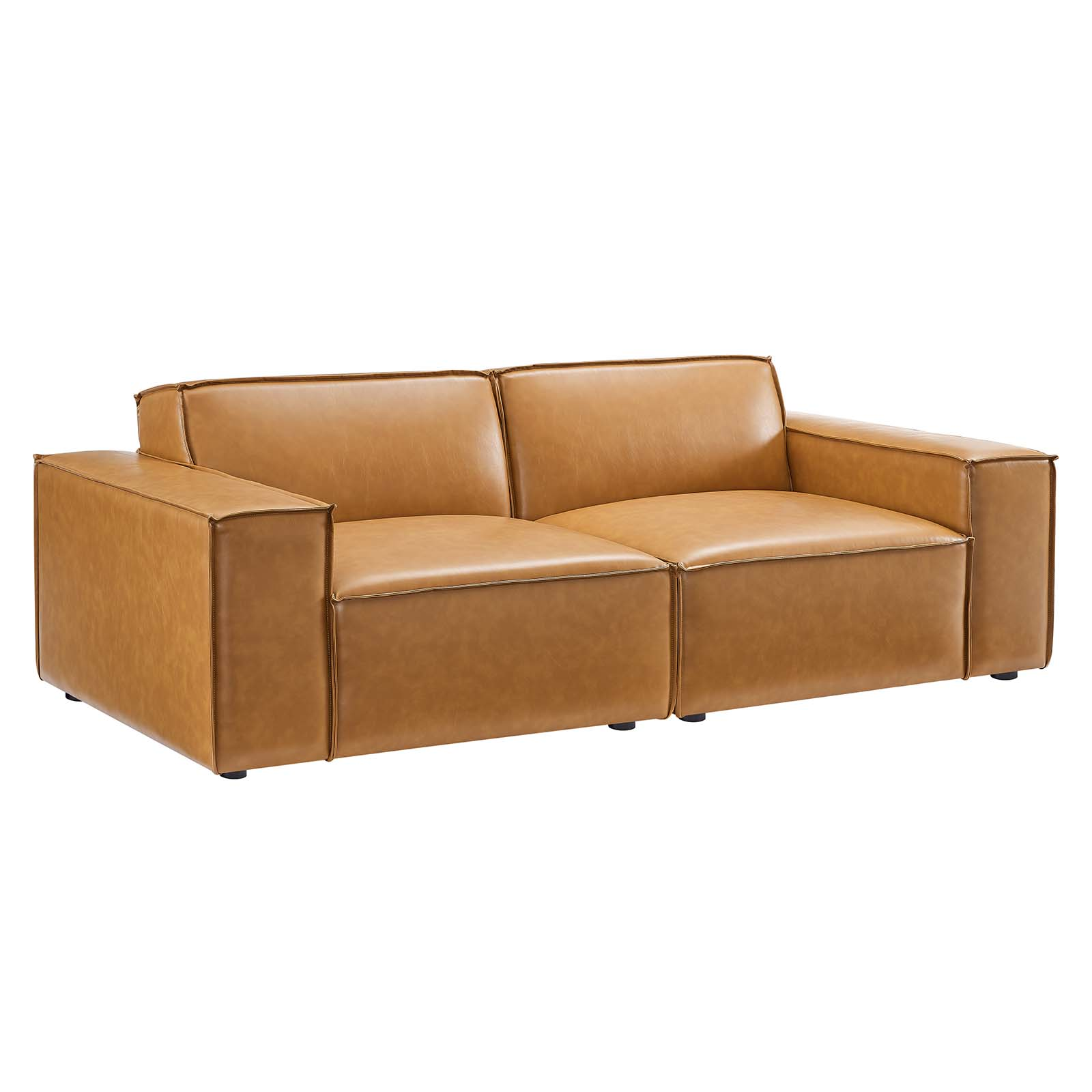 Badu Vegan Leather Loveseat