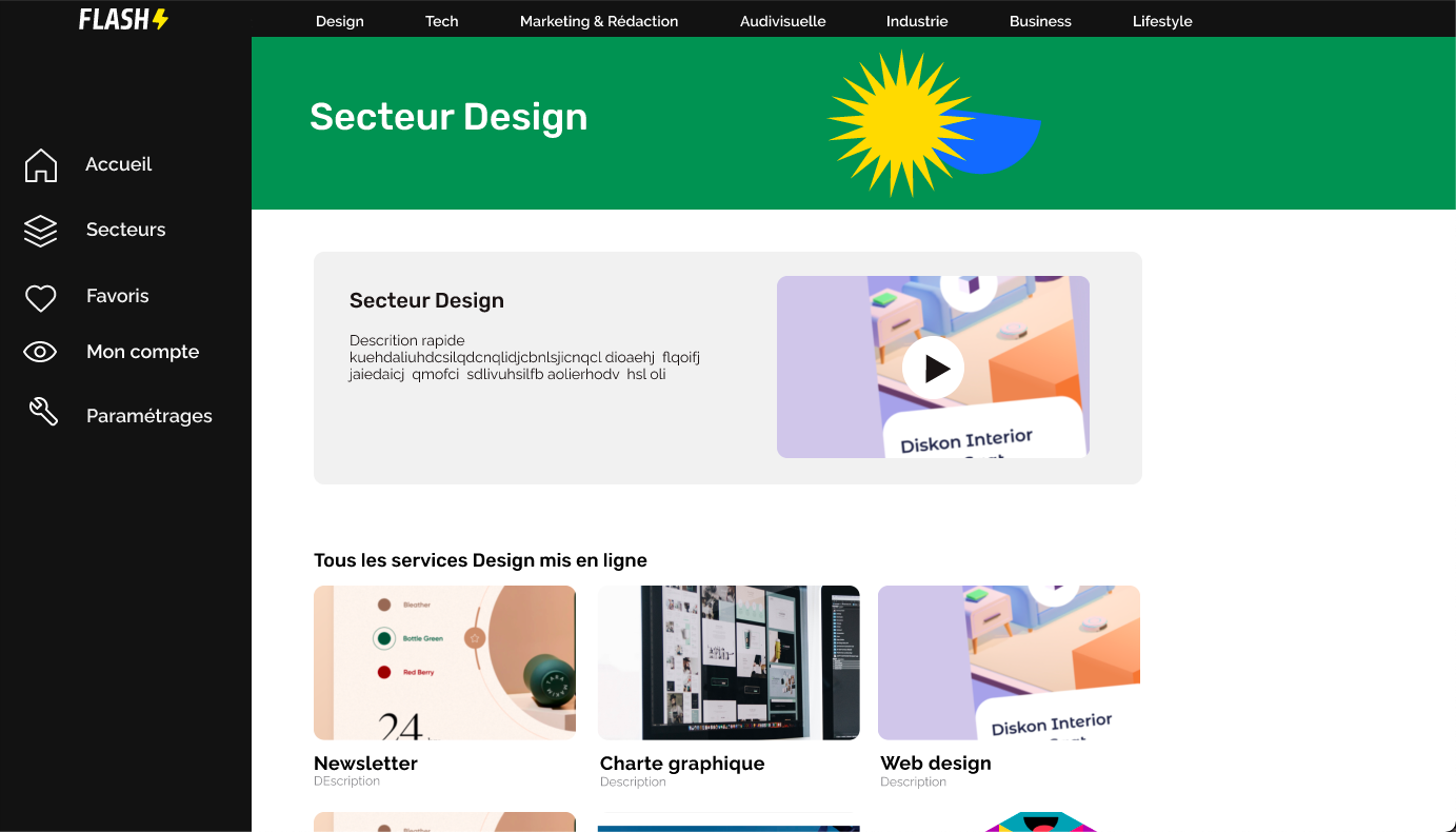 sector page