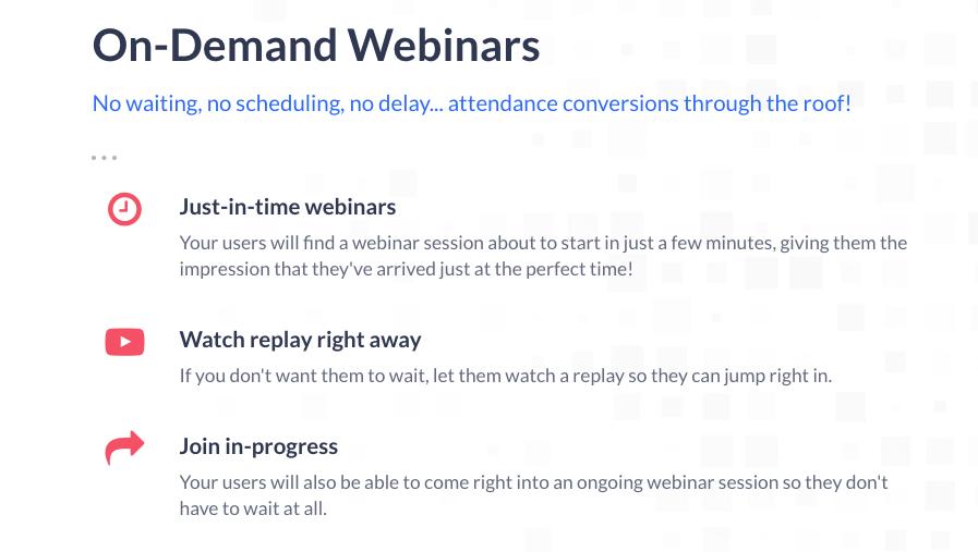 Everwebinar on demand webinars
