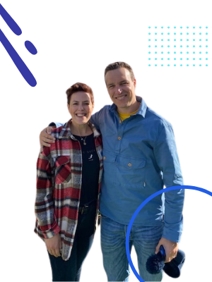 Founders of Marketpool - Matt Dodgson and Ruth Beaney