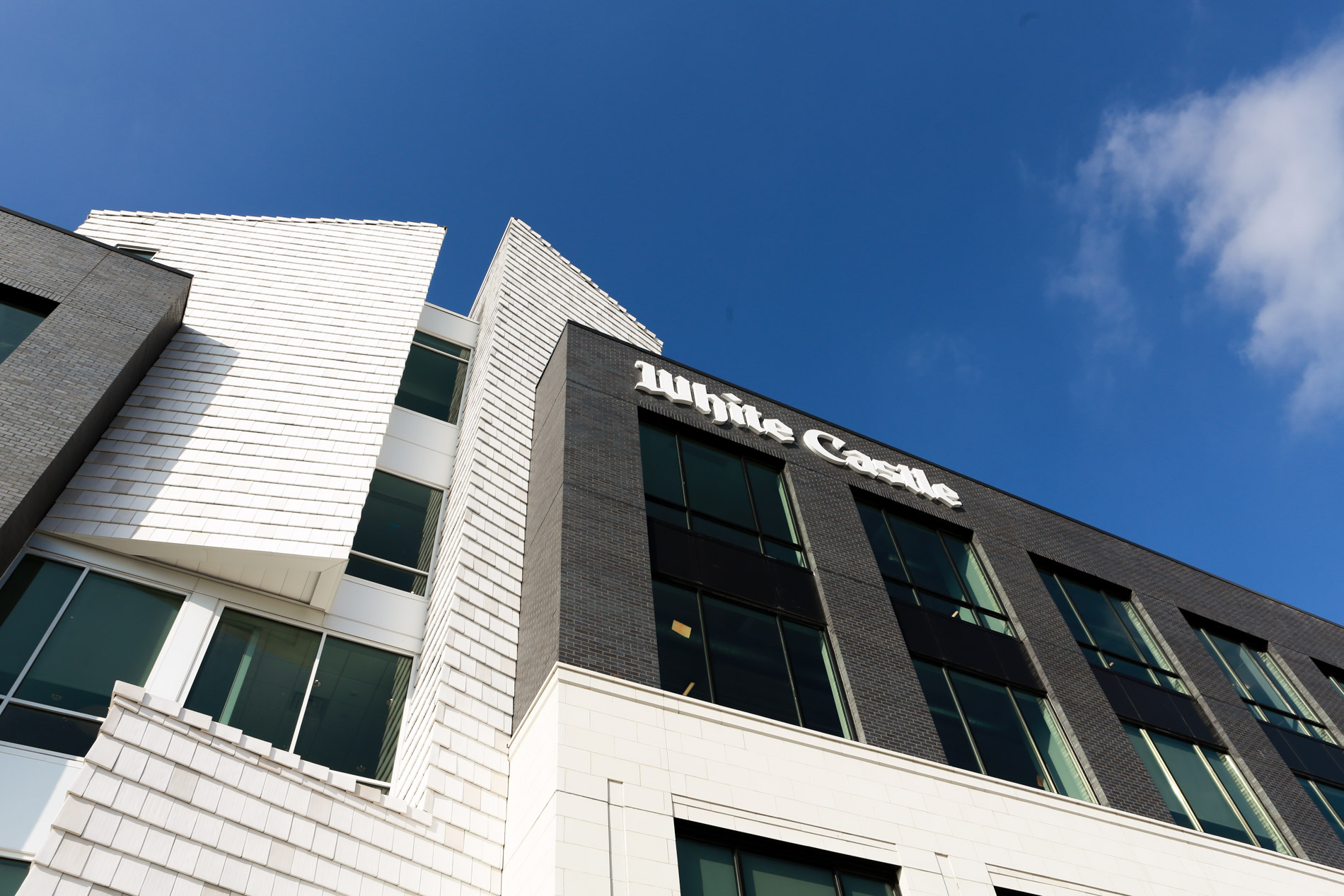 Artistic shot of the White Castle corporate office building exterior.