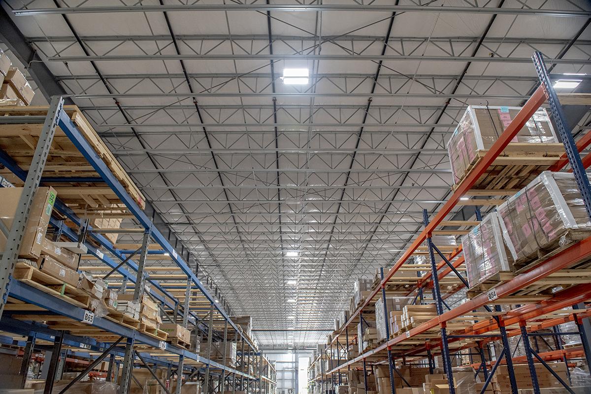 Interior of warehousing area