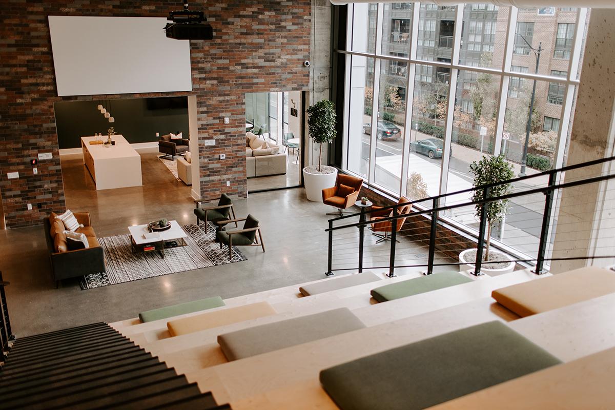 Industry Columbus Grand Stair - Modern Multifamily Amenity space