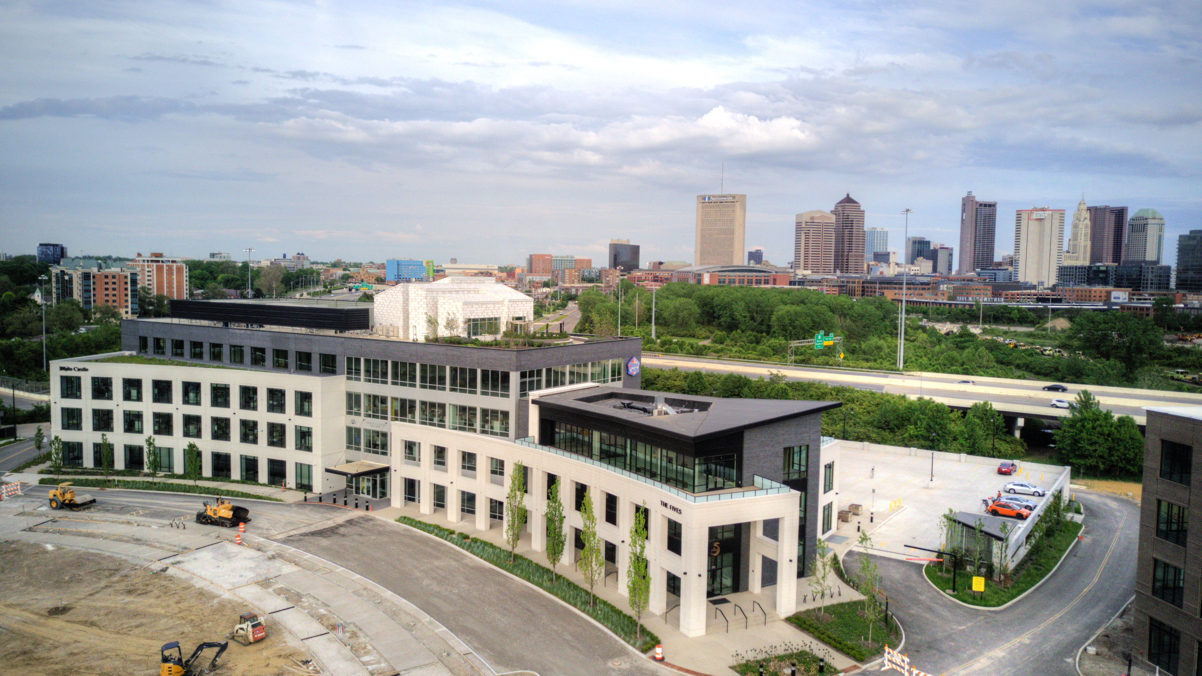 Overview of west elevation, overlooking downtown Columbus