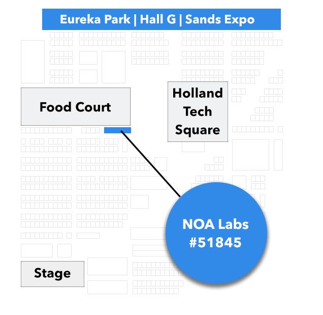 NOA Labs at CES Exhibition Eureka Park Map