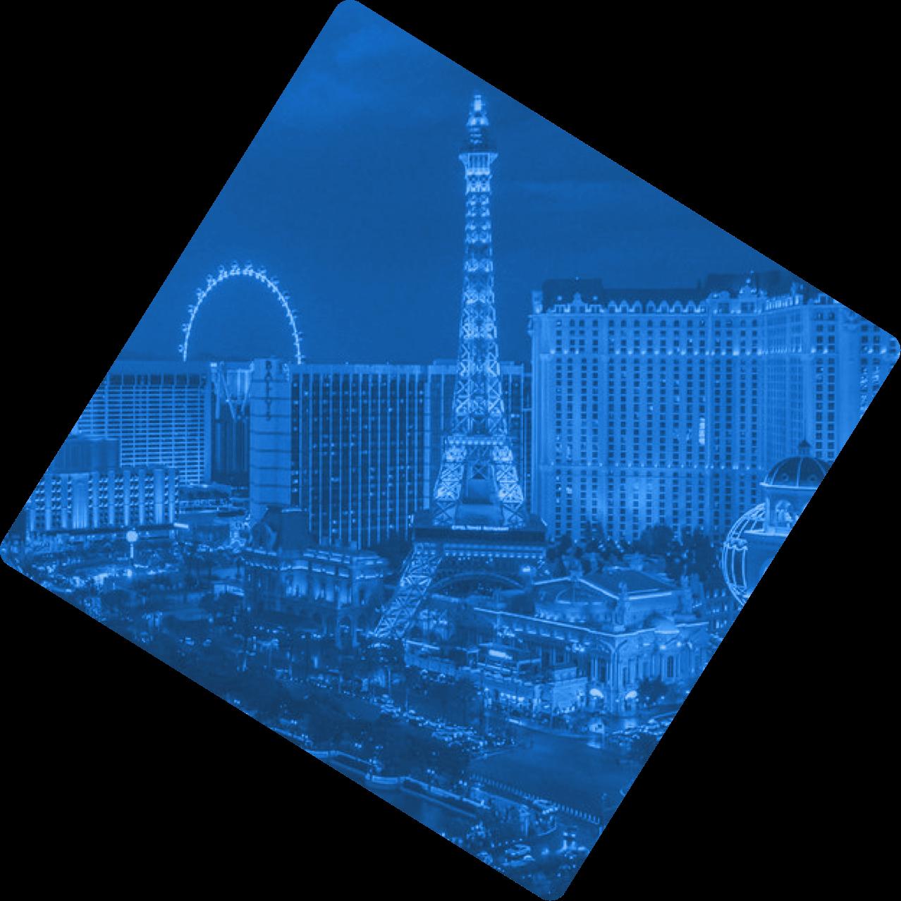 Overhead view of Las Vegas