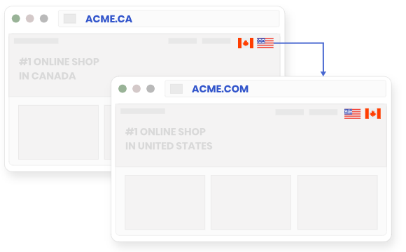 Allowvisitors to switch between local sites