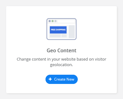 create a Geo Content service for your Shopify store