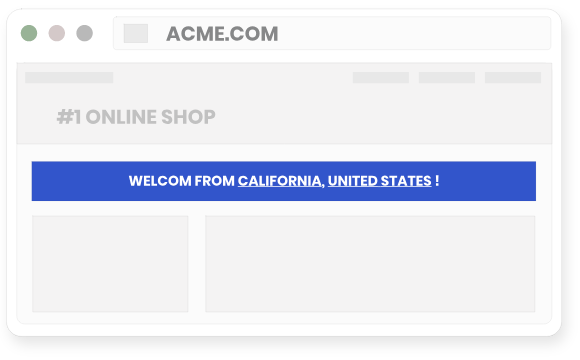 Use IP geolocation to display visitor location for increasing conversions