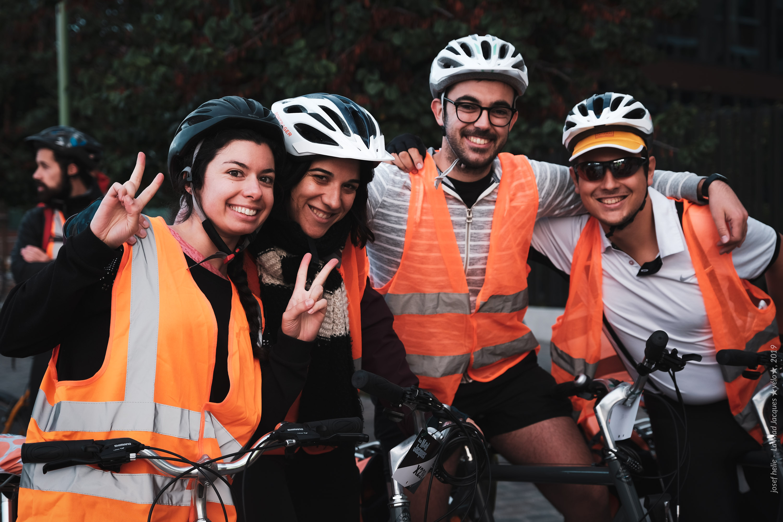 un groupe de voyageurs à vélo - Mad Jacques Vélo