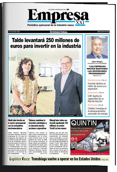 Portada periódico Empresa XXI 1-4-2020