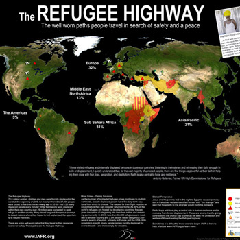 Map of the Refugee Highway