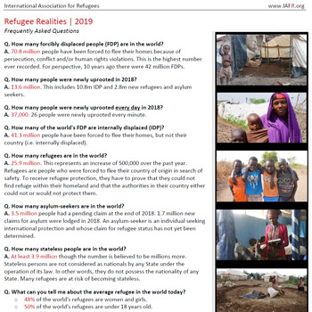 Refugee Realities FAQ (resource)