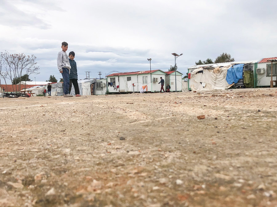 A refugee camp near Athens