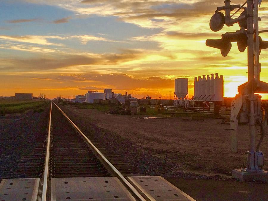 Railroad tracks in northern Colorado
