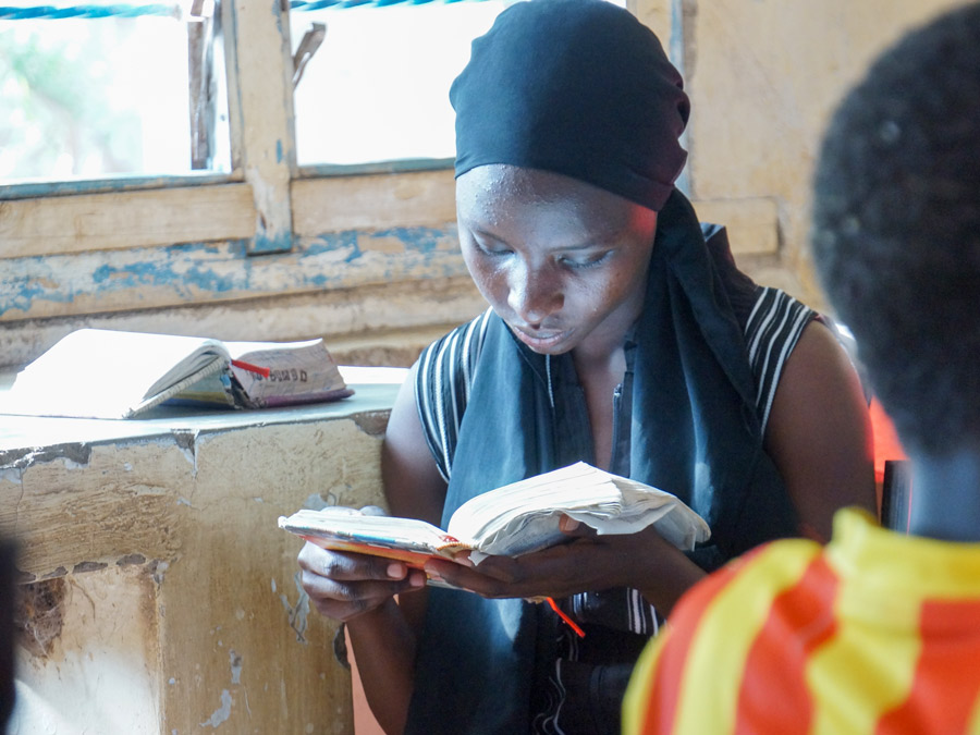 Refugee with Bible at Youth Camp (Kakuma)