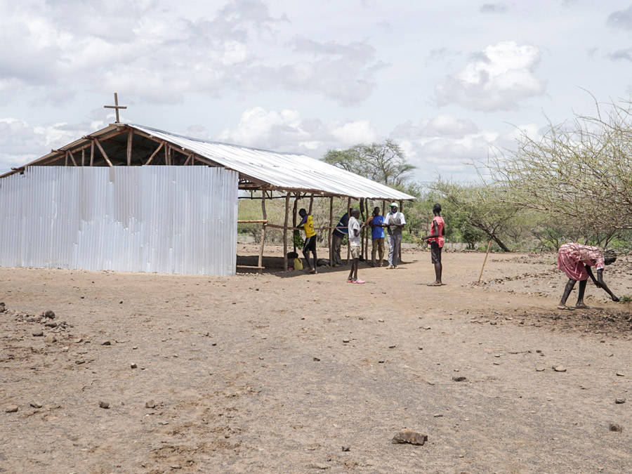 A refugee church in Kalobeyei camp near Kakuma