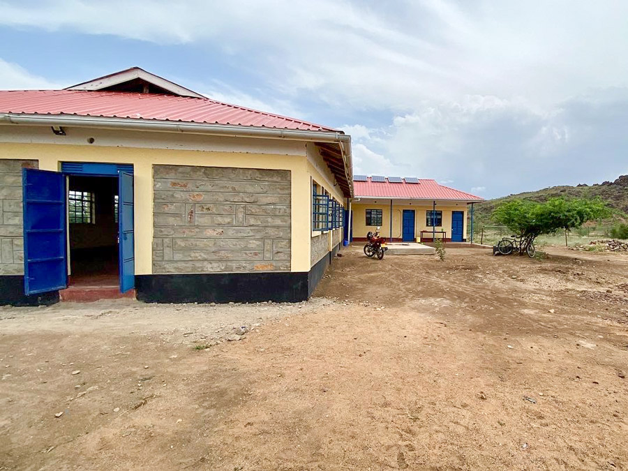 The KISOM school building in Kakuma