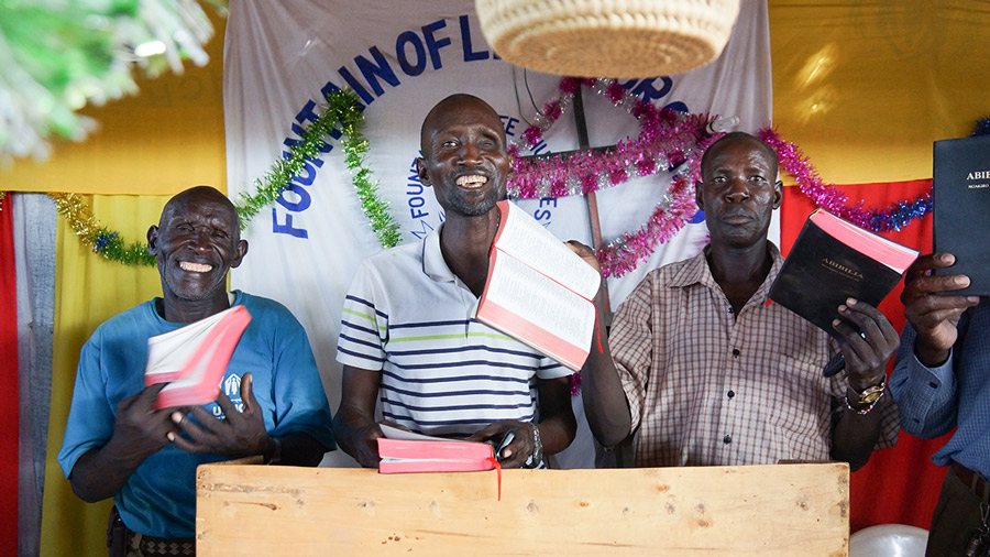 Kakuma Pastors with their new Bibles