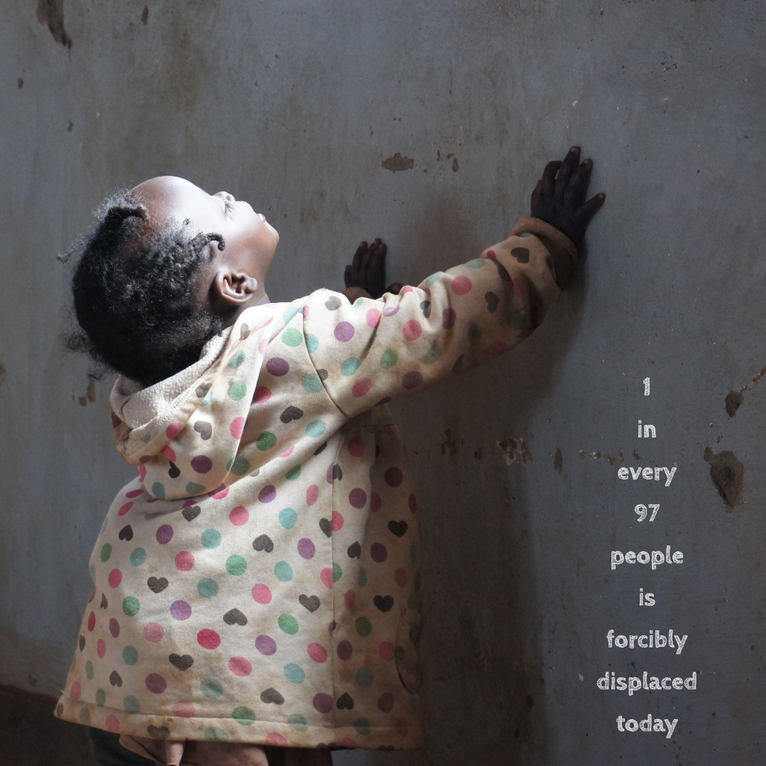 1 in every 97 people is forcibly displaced