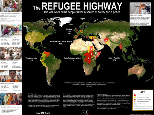 Map of the Refugee Highway (2021)