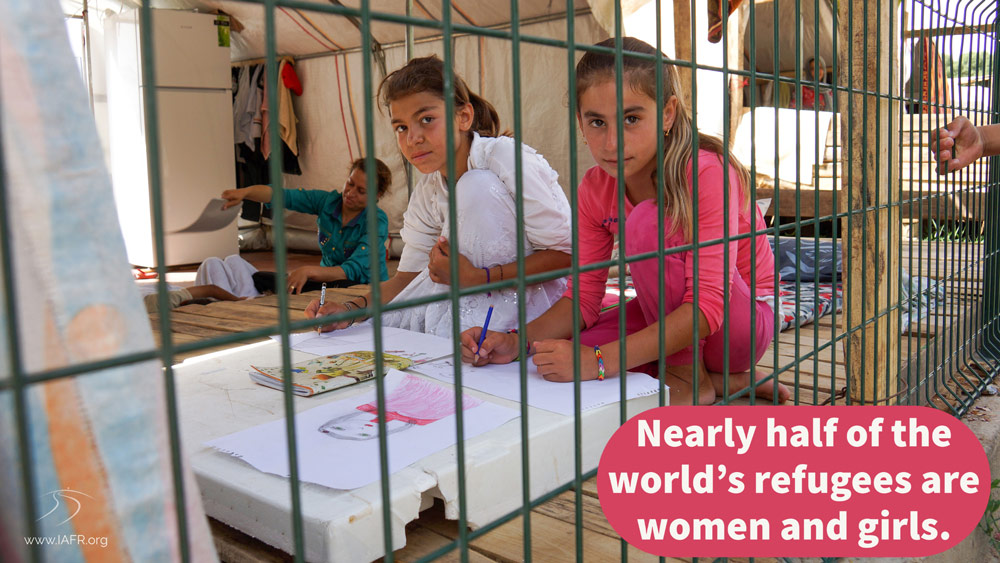 Nearly half of the world's refugees are women and children (2021)