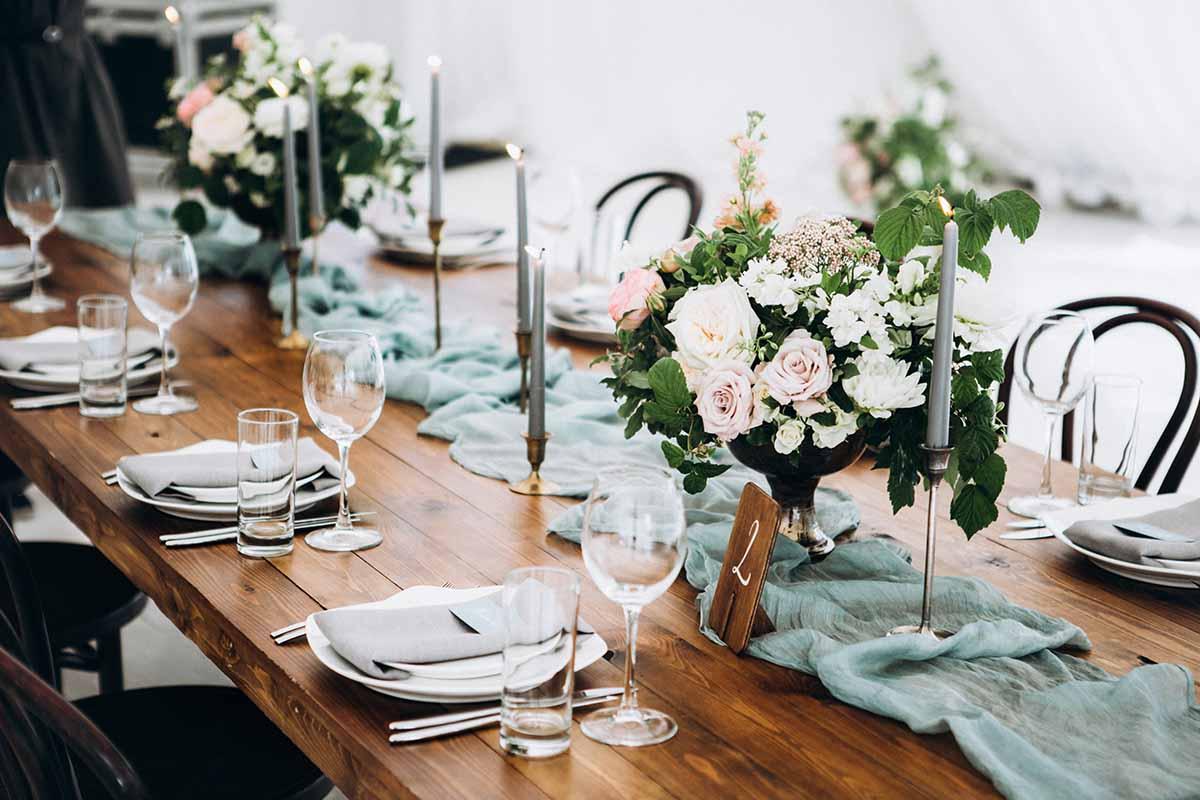 Wedding locations in Austria | Table decoration