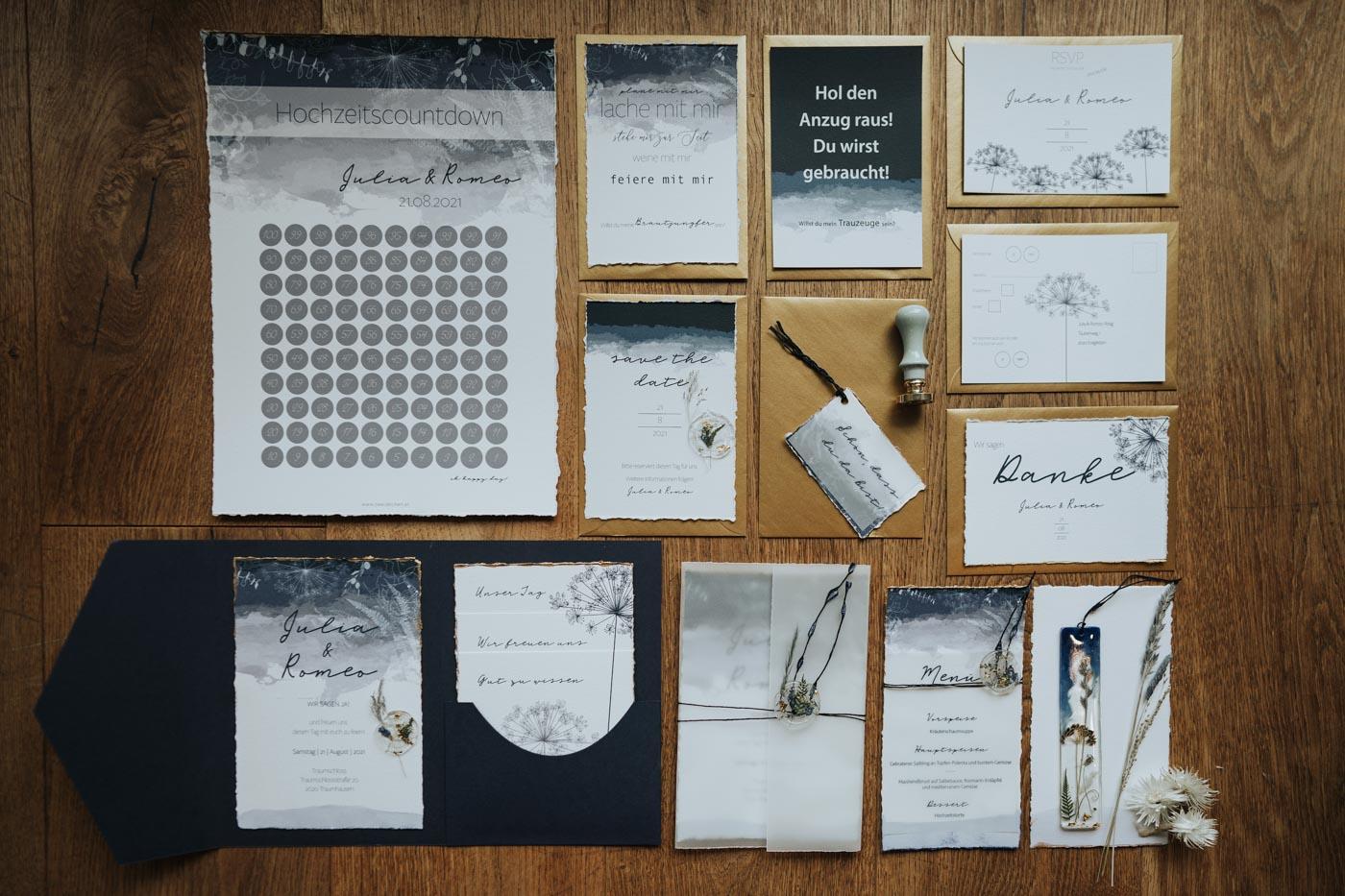 zweizeichen – Hochzeitspapeterie